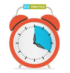 20 - Twenty Minutes Stop Watch - Alarm Clock vector image