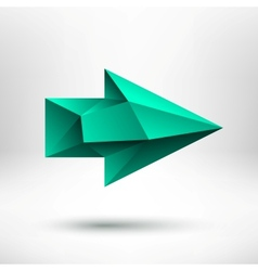 3d Green Right Arrow Sign with Light Background vector