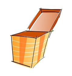 A box is opend vector image
