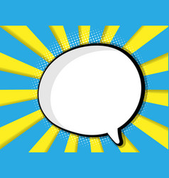abstract blank speech bubble comic book vector image