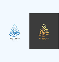 abstract sign emblem or logo template vector image