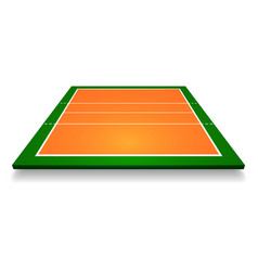 An of an aerial view with perspective volleyball vector