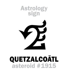 Astrology asteroid quetzalcoatl vector