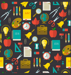 Back to school flat seamless pattern vector