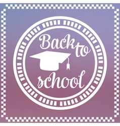 Back to School Label vector