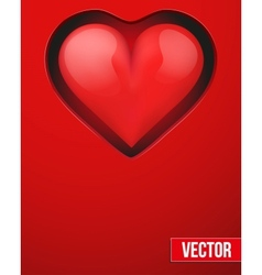 Background with beautiful realistic heart vector image