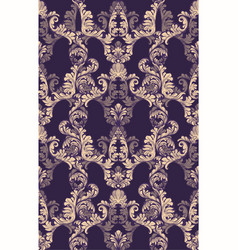 Baroque velvet pattern tile background rich vector