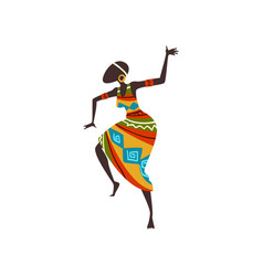 Beautiful african woman dancing folk or ritual vector