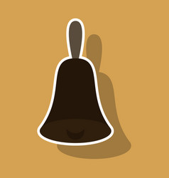 Bell icon alarm service handbell sign vector