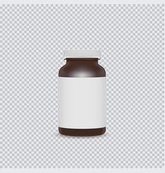 Blank brown pills container with blank label vector