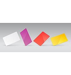blank presentation cards vector image