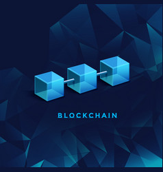 blockchain technology concept database data vector image