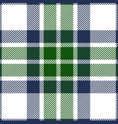 blue and green tartan plaid seamless pattern vector image