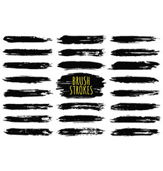 brush strokes collection hand drawn brush strokes vector image