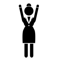 business woman black silhouette lady vector image