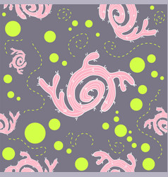 Cactus seamless pattern design vector