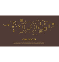 CALL CENTER FLAT THIN DESIGN vector image