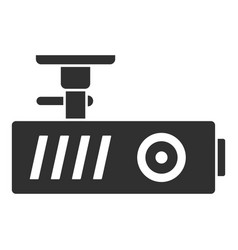 Car dash cam icon simple style vector