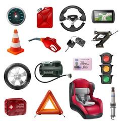 Car maintenance set vector