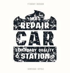 Car repair badge vector