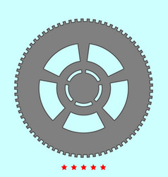 Car wheel it is icon vector