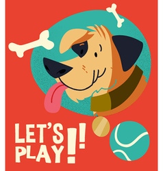 Cartoon dog flat style design vector