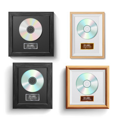 cd disc award set modern ceremony best vector image