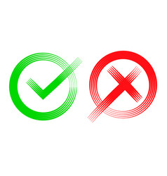 check mark icon in flat design on a white vector image