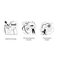 cloud software abstract concept vector image