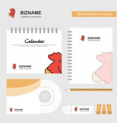 cock logo calendar template cd cover diary and vector image