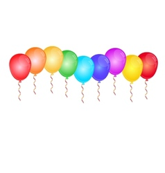 Color glossy balloons on white vector