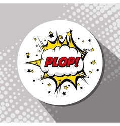 Comic Pop art bubble vector image