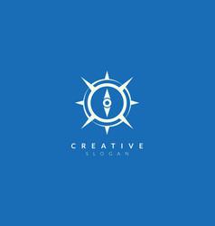 Compass design minimalist and simple logo flat vector