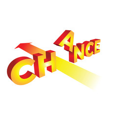 concept chance in 3d vector image