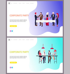 corporate party team building business workers vector image