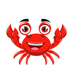 crab cartoon or clipart cartoon vector image