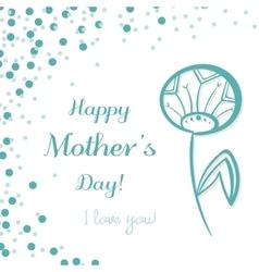 Dandelion Mothers Day vector