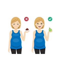 Diet for a healthy pregnancy pregnant woman vector