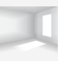 Empty white room 3d blank interior vector