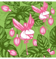 excellent seamless pattern with fuchsia vector image