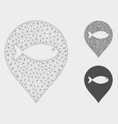 Fish marker mesh carcass model and triangle vector