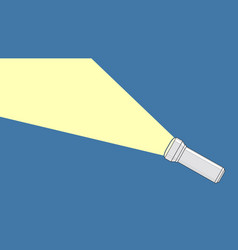 Flashlight from which a ray light comes out vector