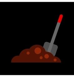 Flat icon on background halloween Plot shovel vector