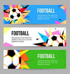football tournament banner templates set vector image