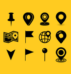 Geo pin as logo geolocation and navigation icon vector