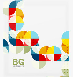 Geometric circle abstract background vector