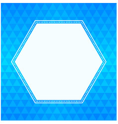 Geometric triangle background and hexagon frame vector