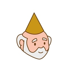 Grandfather party hat old person man male icon vector
