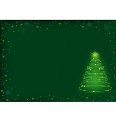 Green Christmas Spiral vector image