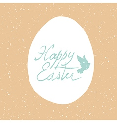 grunge happy easter card design vector image